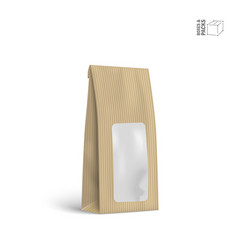 Packaging package bag isolated on white vector