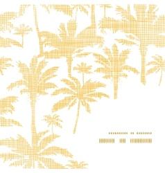 palm trees golden textile frame corner pattern vector image