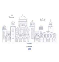 Patras city skyline vector
