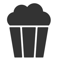 popcorn bucket flat icon vector image