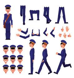 postman creation animation set vector image