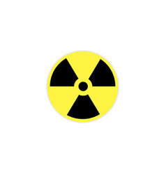 radiation icon isolated on background vector image