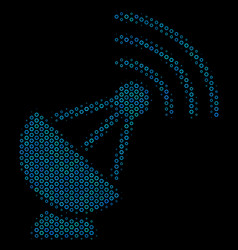 radio transmitter composition icon of halftone vector image
