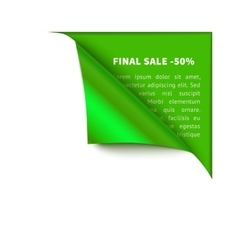 Realistic white paper which gets rolled up vector image