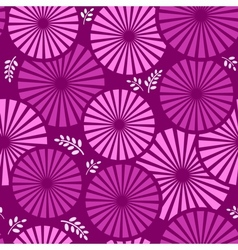 retro floral violet background vector image