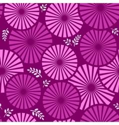 retro floral violet background vector image vector image