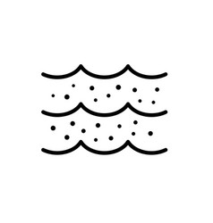 Salinity water icon amount salts in a sea vector