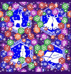 seamless pattern on christmas theme vector image