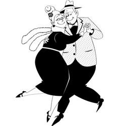 senior tango bw vector image