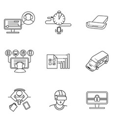 Set of icons for mobile virtual reality vector