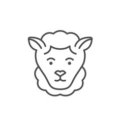 sheep or lamb line outline icon vector image