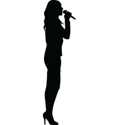 singer woman vector image