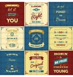 Slogan typography posters vector
