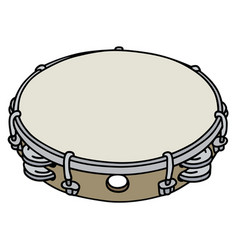 small wooden tambourine vector image
