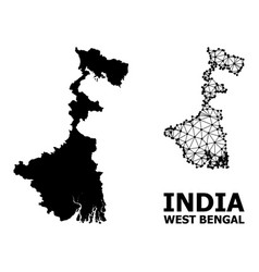 Solid and carcass map west bengal state vector