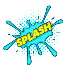Splash text and effect icon pop art style vector