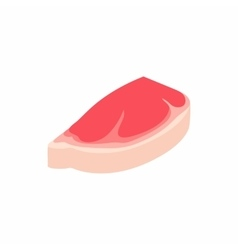 Steak with fat icon isometric 3d style vector