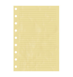 striped notice paper sheet element vector image