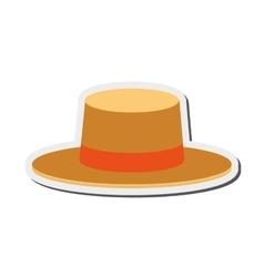 Summer hat icon vector