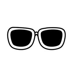 Sunglasses accessorie travel line vector