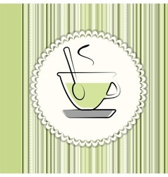 Tea menu card vector