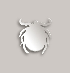 Tick paper style vector