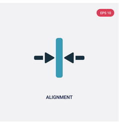 Two color alignment icon from signs concept vector