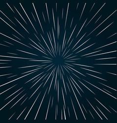 Warp speed abstract background vector