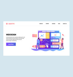 Web site onboarding screens team build ux ui vector