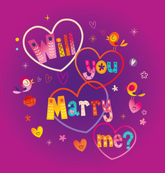 Will you marry me vector