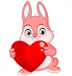 winter bunny valentine vector image