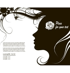 woman silhouette with space for text vector image