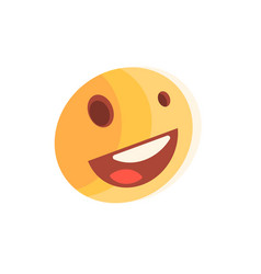 Yellow excited smiley vector