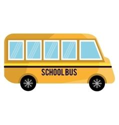 yellow school bus graphic vector image