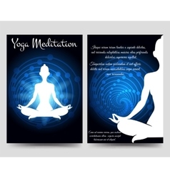 Yoga brochure flyers template vector