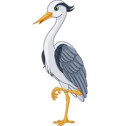 Grey Heron vector image