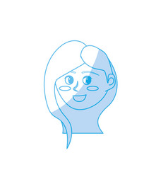 silhouette avatar happy woman face with hairstyle vector image vector image