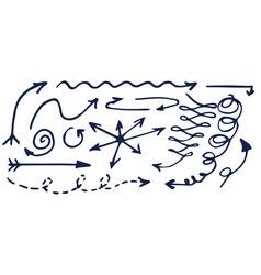 arrows sketches hand drawn vector image vector image