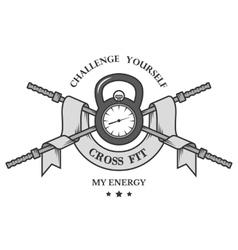 Crossfit sports logo emblem vector image vector image