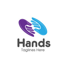 family hands care logo vector image vector image