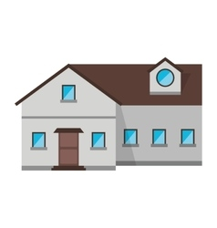 family house exterior concept design vector image