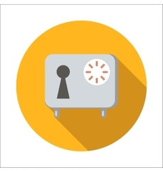 Safe flat icon vector