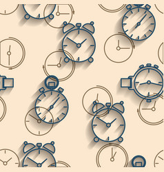 seamless background of watch dials vector image vector image