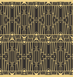 abstract art deco retro seamless pattern vector image vector image