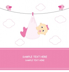 arrival baby girl vector image