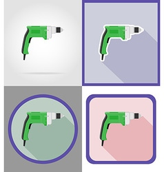 electric repair tools flat icons 03 vector image vector image