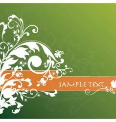 floral background banner vector image