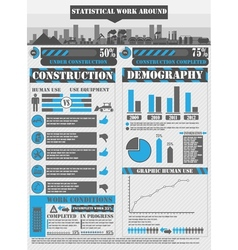 INFOGRAPHIC WORK BLUE vector image vector image