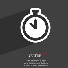 The stopwatch icon symbol Flat modern web design vector image