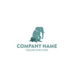 unique elephant logo vector image vector image